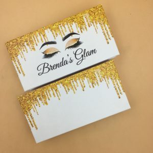 gold driping lash boxes